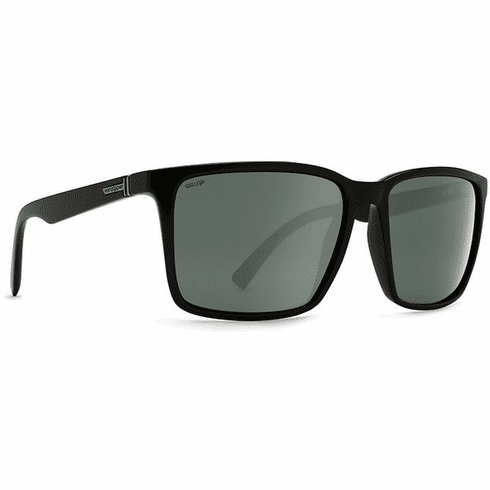 VonZipper Lesmore Sunglasses<br>Black Satin/Wild Silver Flash Polar