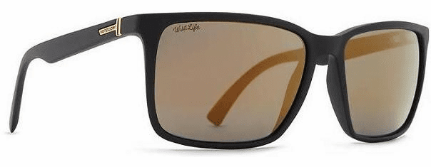 VonZipper Lesmore Sunglasses<br>Black Satin/Wildlife Gold Flash Polar