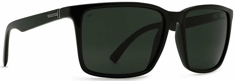VonZipper Lesmore Sunglasses<br>Black Smoke Satin/Grey Poly Polarized