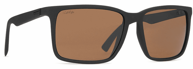 VonZipper Lesmore Sunglasses<br>Black Soft Satin/Wild Bronze Polarized
