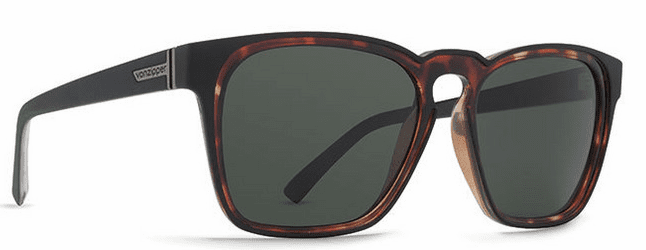 VonZipper Levee Sunglasses<br>Black Satin Tort/Grey