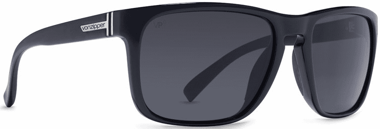 (SALE!!!) VonZipper Lomax Sunglasses<br>Black Gloss/Grey Glass Polarized