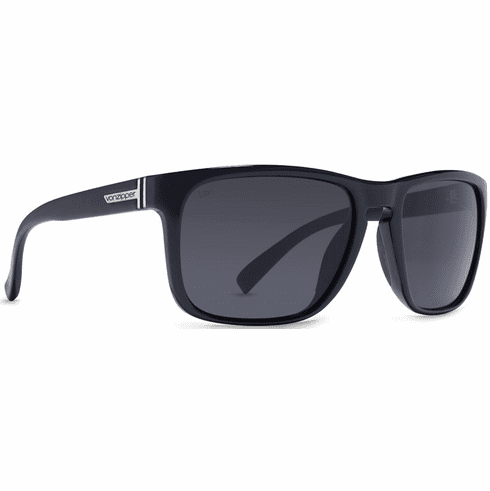 VonZipper Lomax Sunglasses<br>Black Gloss/Grey Glass Polarized