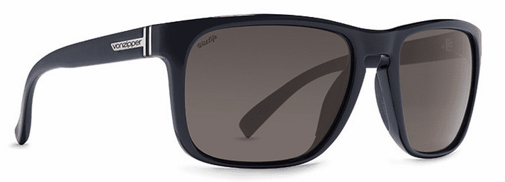 VonZipper Lomax Sunglasses<br>Black Gloss/Wild Vintage Grey Polar