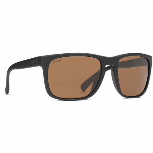 VonZipper Lomax Sunglasses<br>Soft Matte Black Satin/Wild Bronze Polar