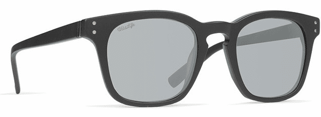 VonZipper Morse Sunglasses<br>Black Satin/Wild Vintage Grey Polar