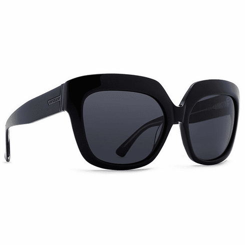 (SALE!!!) VonZipper Poly Sunglasses<br>Black Glitter/Grey