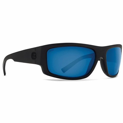 VonZipper Semi Sunglasses<br>Black Satin/Wild Blue Chrome Glass Polar