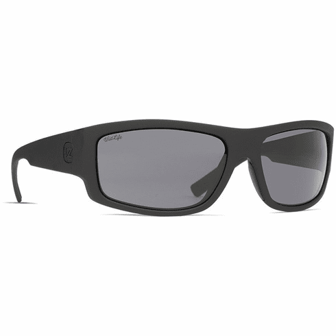 VonZipper Semi Sunglasses<br>Black Satin/Black Smoke Polar
