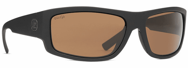VonZipper Semi Sunglasses<br>Soft Matte Black Satin/Wild Bronze Polar
