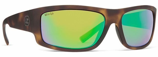VonZipper Semi Sunglasses<br>Tortoise Satin/Wild Green Flash Polar