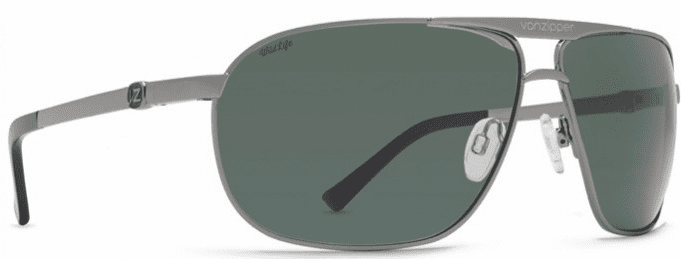 VonZipper Skitch Sunglasses <BR>Charcoal Gloss/Wild Vintage Grey