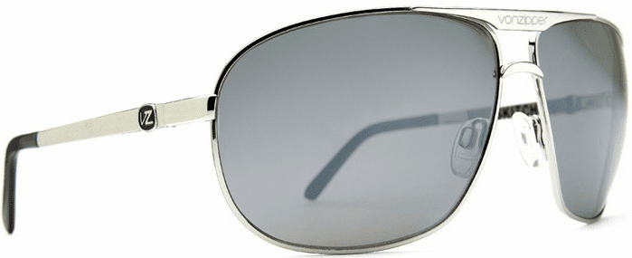 VonZipper Skitch Sunglasses <BR>Silver/Grey Chrome