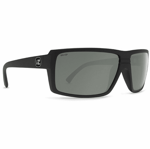 VonZipper Snark Sunglasses<br>Black Satin/Silver Chrome Polar
