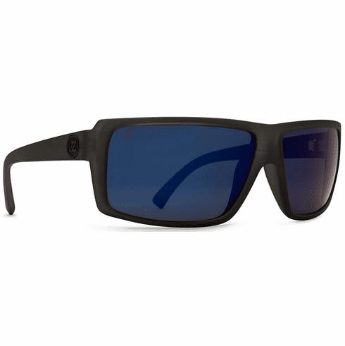 VonZipper Snark Sunglasses<br>Black Satin/Blue Flash Polar