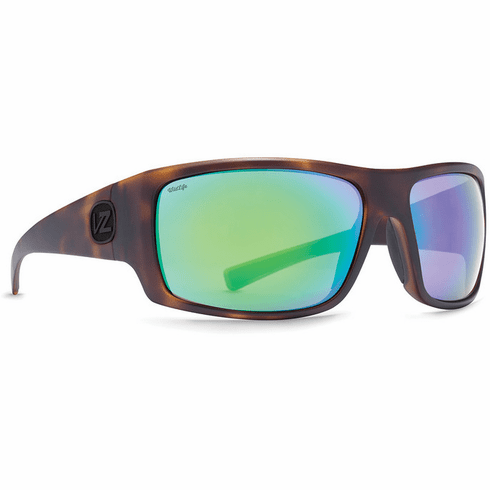 VonZipper Suplex Sunglasses<br>Tortoise Satin/Wild Green Flash Polar
