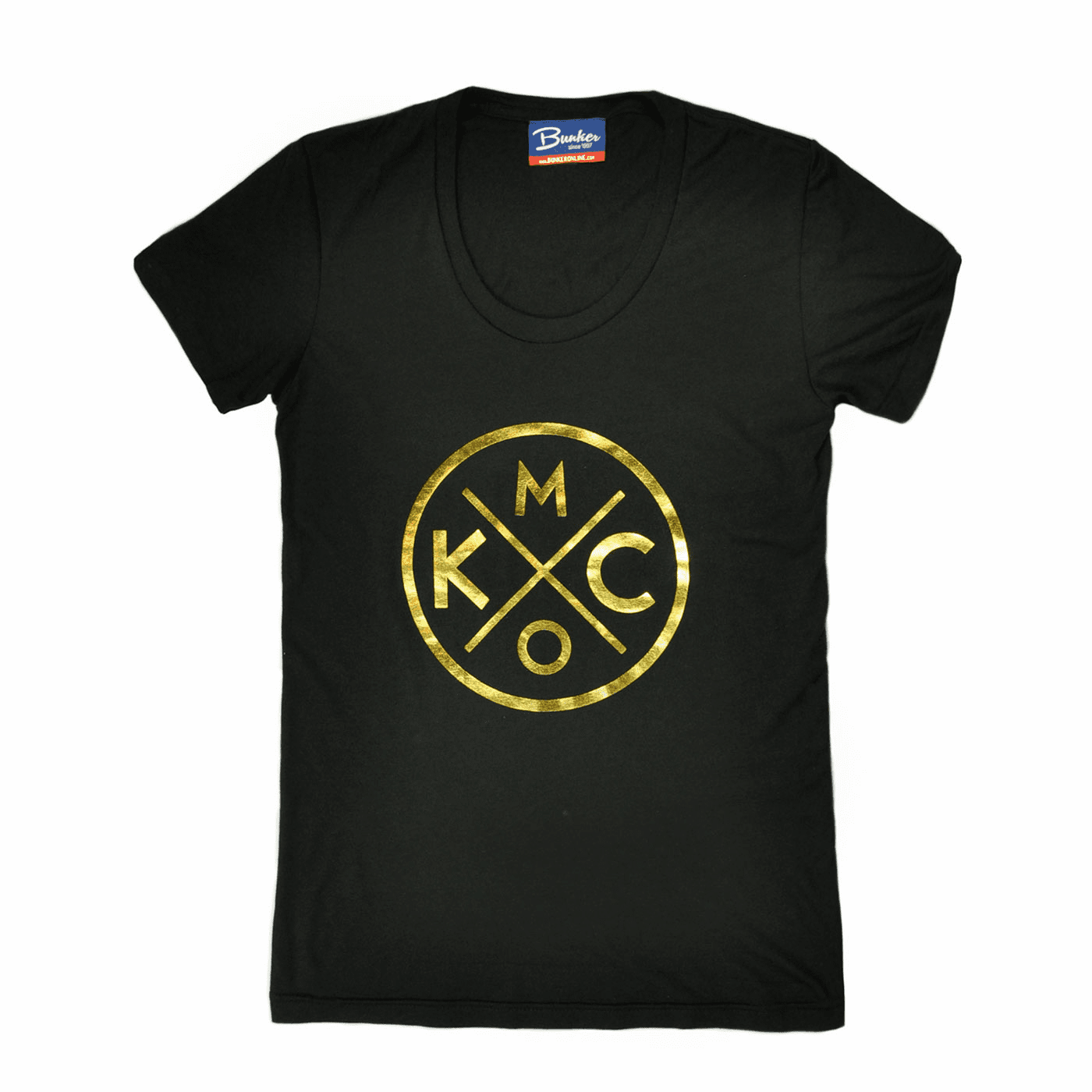 Womens KCMO Gold Foil Tee