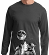 Wolves Howling at The Moon Bottom Print Long Sleeve Shirt