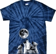 3 Wolf Moon Bottom Print Spider Tie Dye Shirt