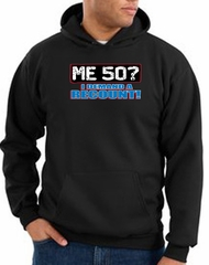 50th Birthday Hooded Hoodie Funny Me 50 Years Black Hoody Sweatshirt