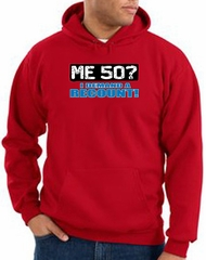 50th Birthday Hooded Hoodie - Funny Me 50 Years Red Hoody Sweatshirt