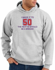 50th Birthday Hoodie I Made It To 50 Hoody Ash