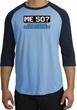 50th Birthday Raglan Shirt Funny Me 50 Years Carolina Blue/Navy Tee