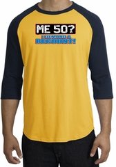 50th Birthday Raglan Shirt - Funny Me 50 Years Gold/Navy Tee Shirt