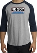 50th Birthday Raglan Shirt Funny Me 50 Years Heather Grey/Navy Tee