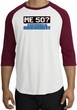 50th Birthday Raglan Shirt Funny Me 50 Years White/Cardinal Tee Shirt