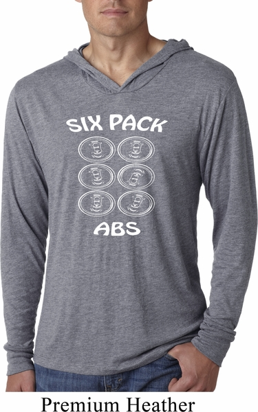7c9b58952 6 Pack Abs Beer Funny Lightweight Hoodie Shirt - 6 Pack Abs Beer ...