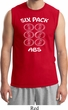 6 Pack Abs Beer Funny Mens Muscle Shirt