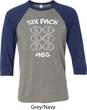 6 Pack Abs Beer Funny Mens Raglan Shirt
