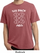 6 Pack Abs Beer Funny Pigment Dyed Shirt