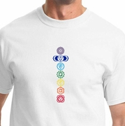 7 Colored Chakras Mens Yoga Shirts
