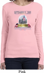 9-11 Never Forget Ladies Long Sleeve Shirt