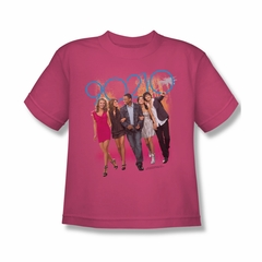 90210 Shirt Kids Walking Hot Pink T-Shirt