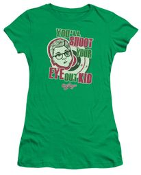 A Christmas Story Juniors Shirt You'll Shoot Your Eye Out Green T-Shirt