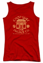 A Christmas Story Juniors Tank Top Chop Suey Palace Co Red Tanktop