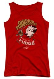A Christmas Story Juniors Tank Top Oh Fudge Red Tanktop