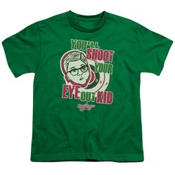 A Christmas Story Kids Shirt You'll Shoot Your Eye Out Green T-Shirt