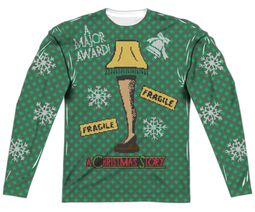 A Christmas Story Leg Lamp Faux Ugly White Sweater