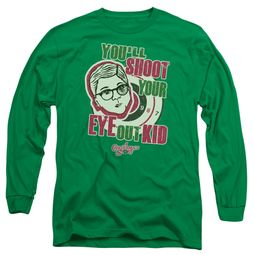 A Christmas Story Long Sleeve Shirt You'll Shoot Your Eye Out Green Tee T-Shirt