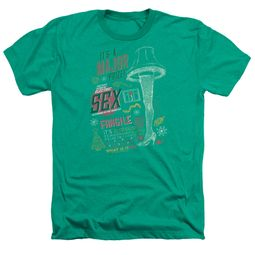 A Christmas Story Shirt Its A Major Prize Heather Kelly Green T-Shirt