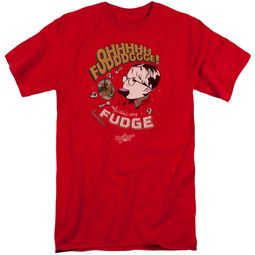 A Christmas Story Shirt Oh Fudge Red Tall T-Shirt