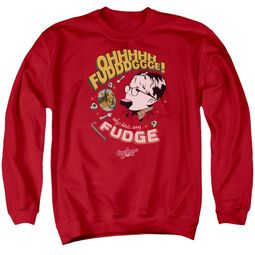 A Christmas Story Sweatshirt Oh Fudge Adult Red Sweat Shirt