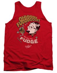 A Christmas Story Tank Top Oh Fudge Red Tanktop