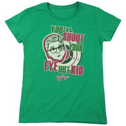 A Christmas Story Womens Shirt You'll Shoot Your Eye Out Green T-Shirt