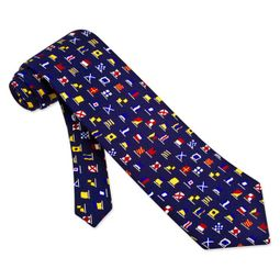 A-Z International Flags Tie Blue Necktie - Mens Occupational Neck Tie