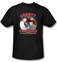 Abbott & Costello Kids Shirt Funny Bad Boy Youth Black Tee T-shirt